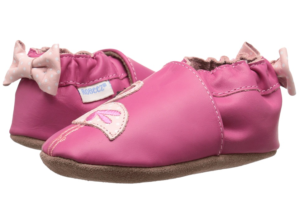 Robeez - The Flamingo Soft Sole (Infant/Toddler) (Hot Pink) Girls Shoes