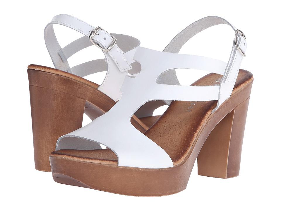 Eric Michael - Alicia (White) Women's Sandals
