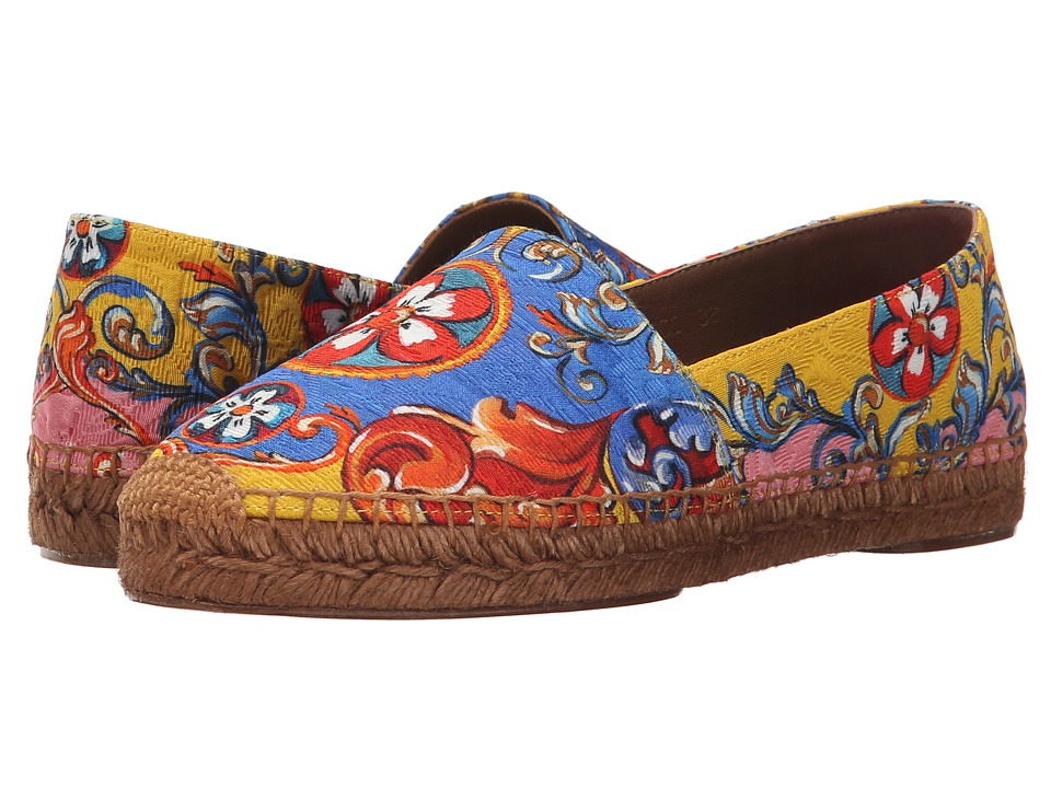 Dolce & Gabbana - Espadrillas Broccato St. Carretto (Multi) Women's Shoes