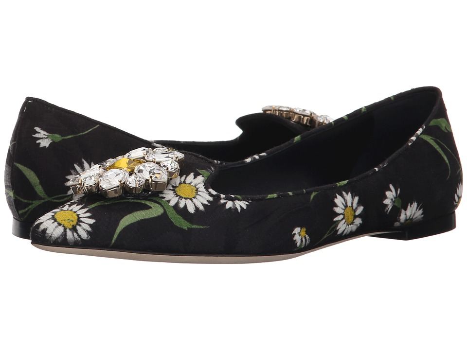Dolce & Gabbana - St. Margherite Flat (Margherite Nero) Women's Flat Shoes