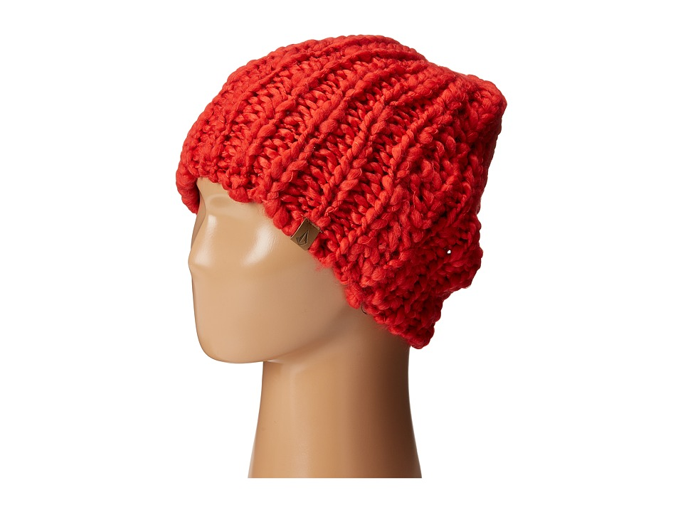Volcom - Wanderer Beanie (Blood Red) Beanies