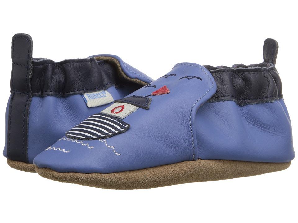 Robeez - Chug Chug Soft Sole (Infant/Toddler) (Ocean Blue) Boys Shoes