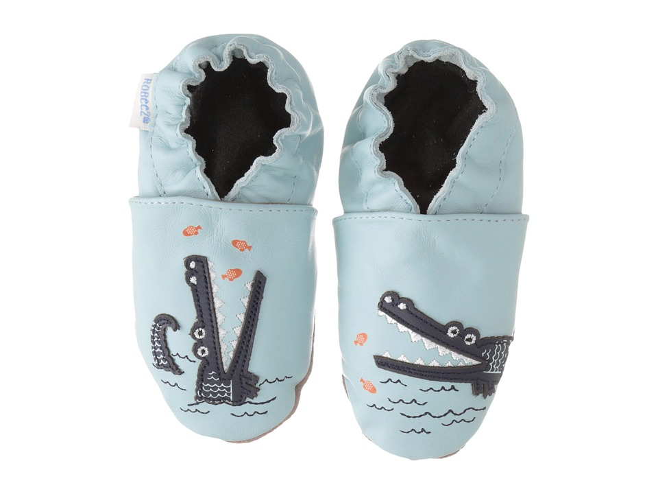 Robeez - Gator Greg Soft Sole (Infant/Toddler) (Baby Blue) Boys Shoes