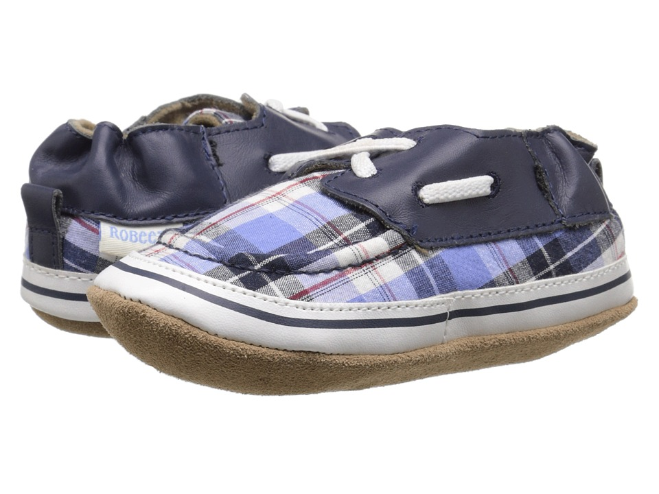 Robeez - Connor Soft Sole (Infant/Toddler) (Plaid Multi) Boys Shoes