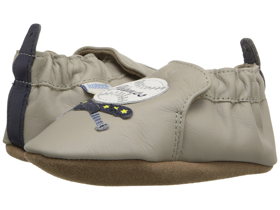 Robeez - Champ Soft Sole (Infant/Toddler) (Cool Grey) Boys Shoes