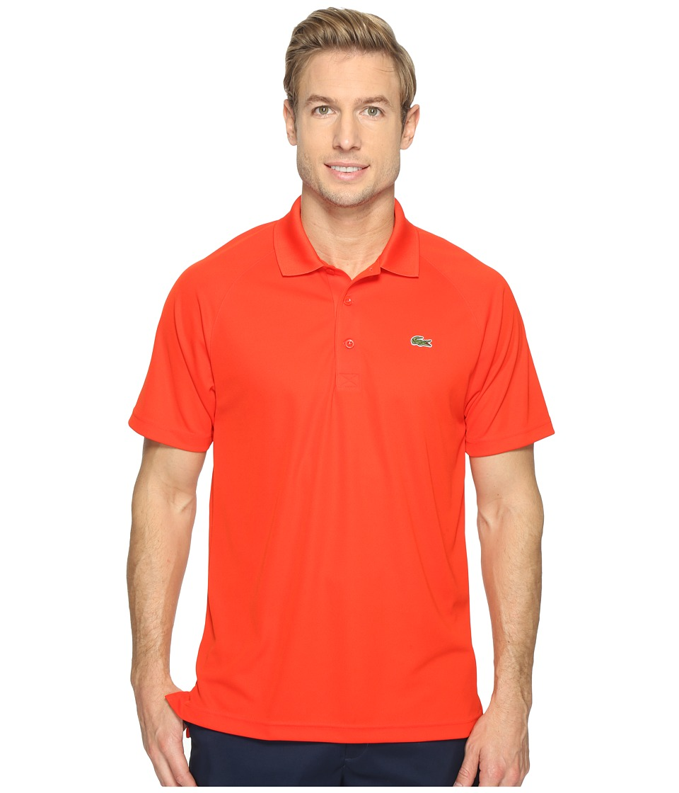 Lacoste - Sport Pique Ultra Dry Polo (Etna Red) Men's Short Sleeve Pullover