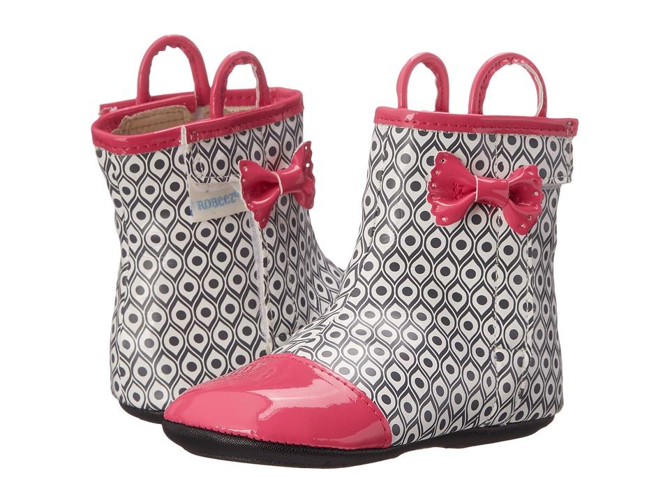 Robeez - Happy Hopper Rain Boot Mini Shoez (Infant/Toddler) (Hot Pink) Girls Shoes