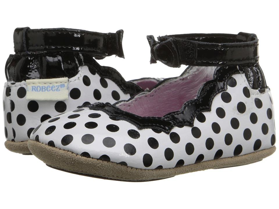 Robeez - Charlotte Mini Shoez (Infant/Toddler) (Black/White) Girls Shoes