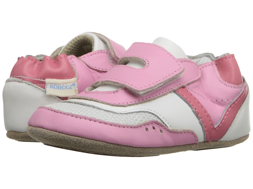 Robeez - Sporty Steph Mini Shoez (Infant/Toddler) (Prism Pink) Girls Shoes