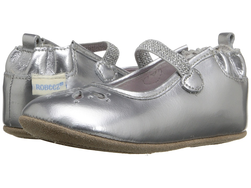 Robeez - Nora Mini Shoez (Infant/Toddler) (Silver) Girls Shoes