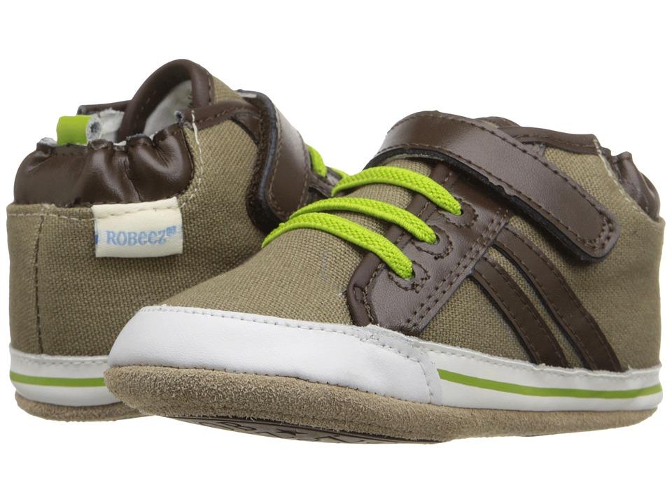 Robeez - Logan High Top Mini Shoez (Infant/Toddler) (Natural) Boys Shoes