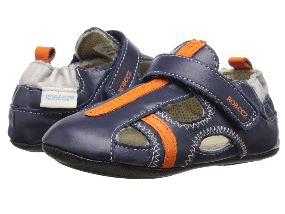 Robeez - Rugged Rob Mini Shoez (Infant/Toddler) (Navy) Boys Shoes