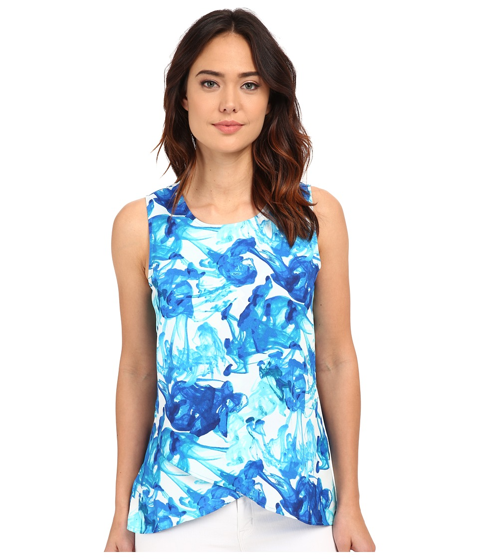 Calvin Klein - Double Layer Angle Top (Celestial/Seaglass Multi) Women's Sleeveless