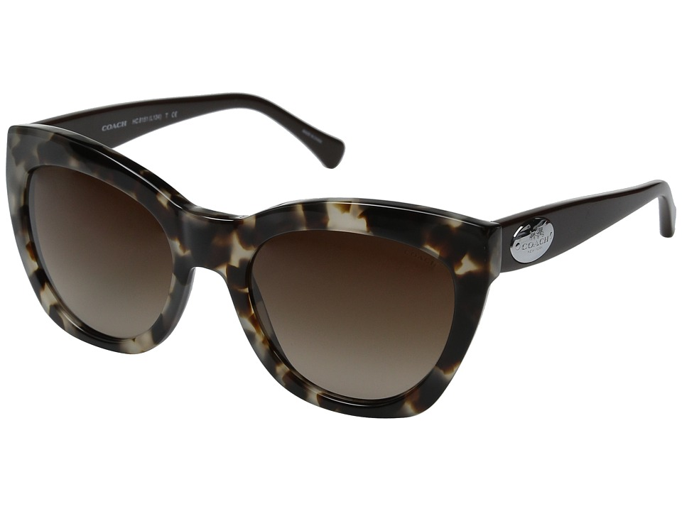 COACH - 0HC8151 (Snow Leopard Tortoise/Brown Gradient) Fashion Sunglasses