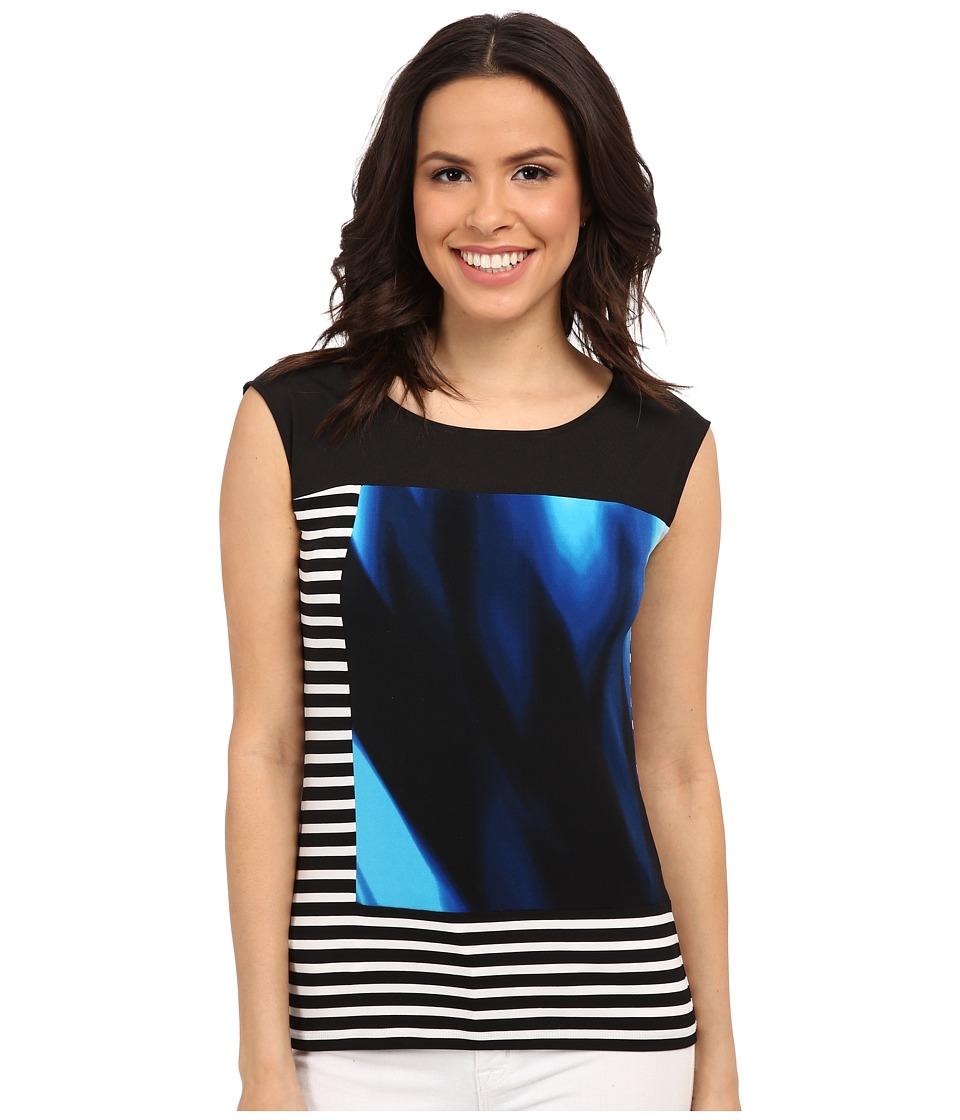 Calvin Klein - Mixed Print Tank Top (Adriatic/Soft White) Women's Sleeveless