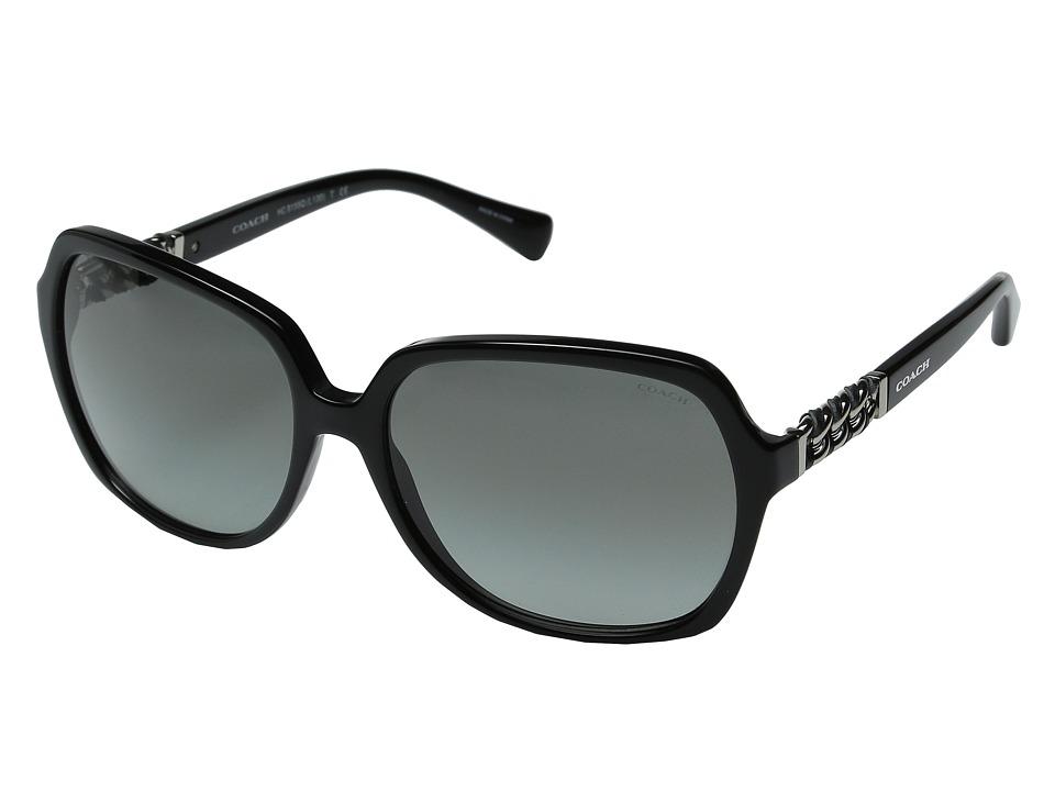 COACH - 0HC8155Q (Black/Grey Gradient) Fashion Sunglasses