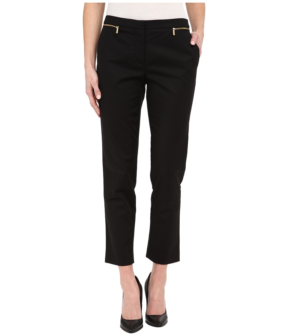 Calvin Klein - Ankle Pants w/ Zips (Black) Women's Casual Pants