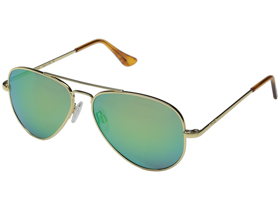Randolph - Concorde 57mm (23K Gold/Green Flash) Fashion Sunglasses