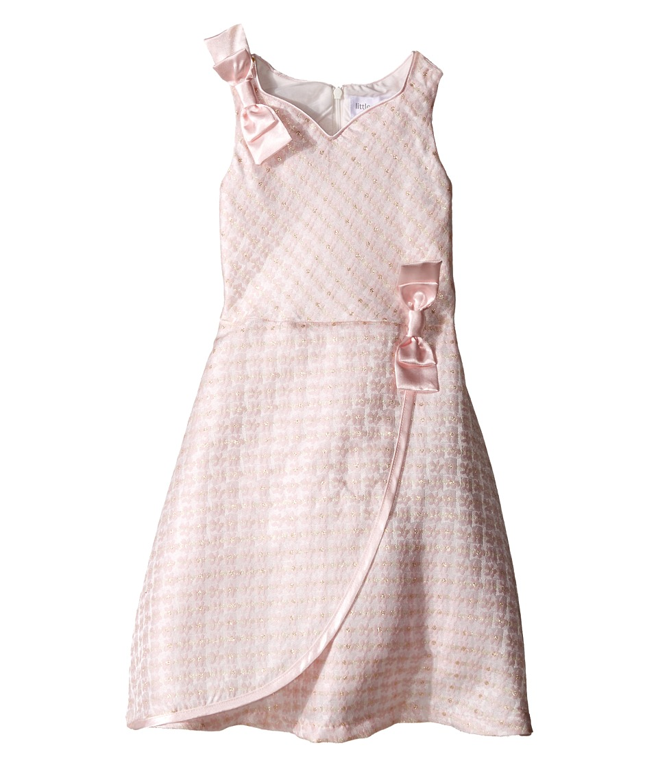Us Angels - Brocade Sleeveless Dress w/ Satin Ribbon Trim (Toddler/Little Kids) (Pink) Girl's Dress