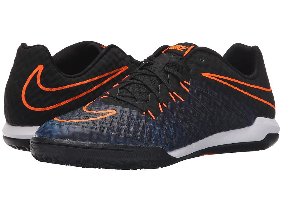 Nike - Hypervenomx Finale IC (Black/Total Orange/Racer Blue/Black) Men's Soccer Shoes