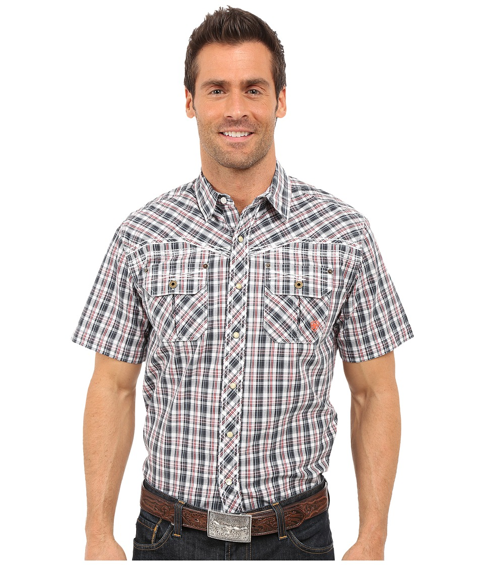 Ariat - Elliot Snap Shirt (Briquet) Men's Short Sleeve Button Up
