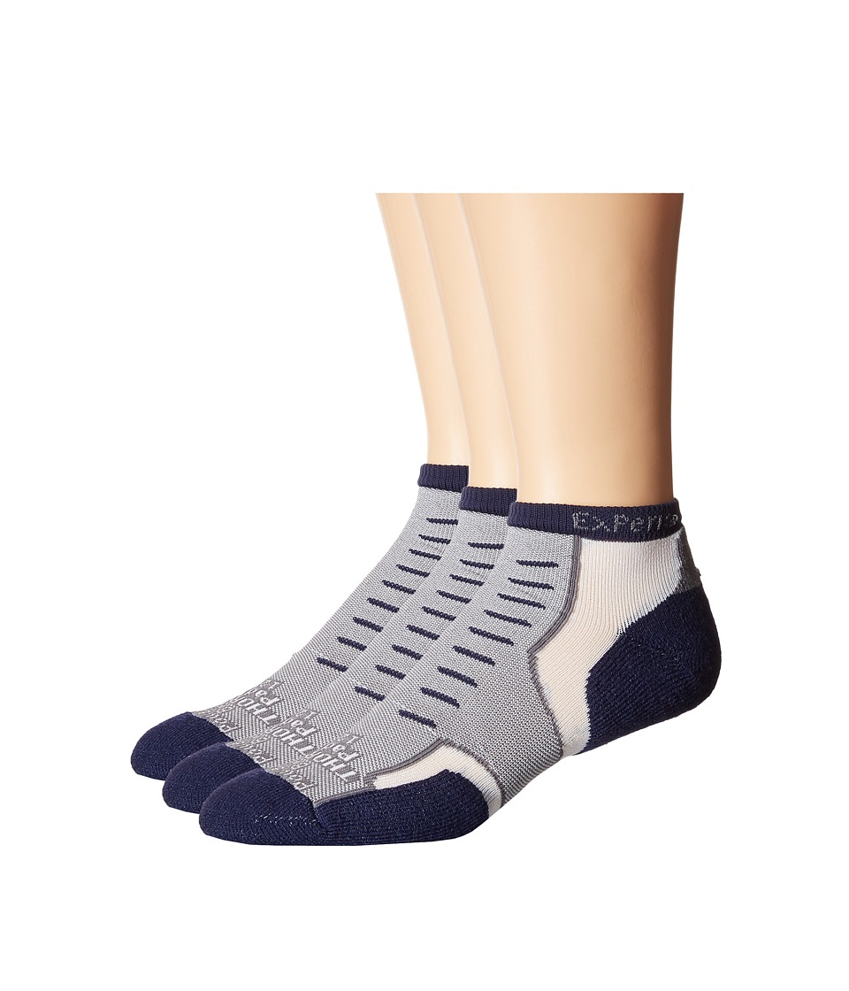 Thorlos - Experia Nantucket Micro Mini 3-Pair Pack (Quaker Grey) Crew Cut Socks Shoes