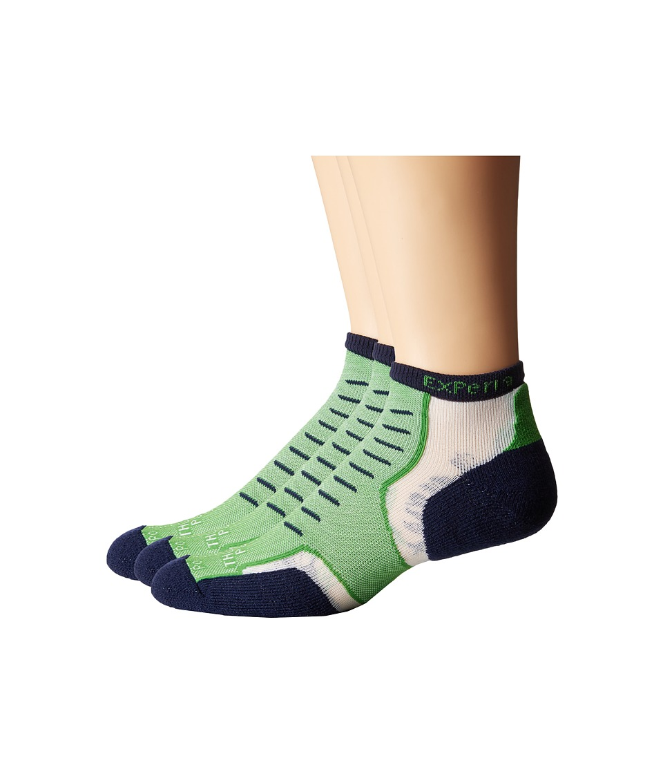 Thorlos - Experia Nantucket Micro Mini 3-Pair Pack (Newport Green) Crew Cut Socks Shoes