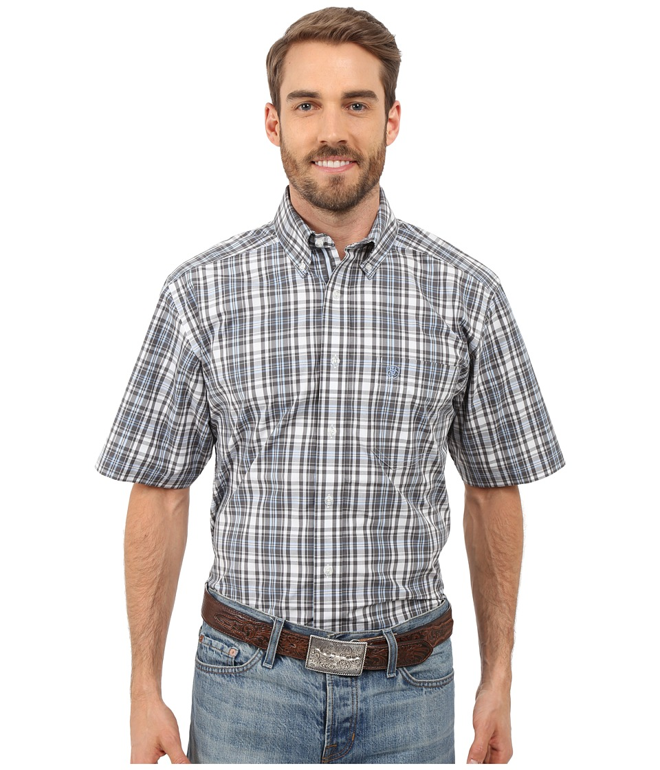Ariat - Garban Shirt (Graphite) Men's Short Sleeve Button Up