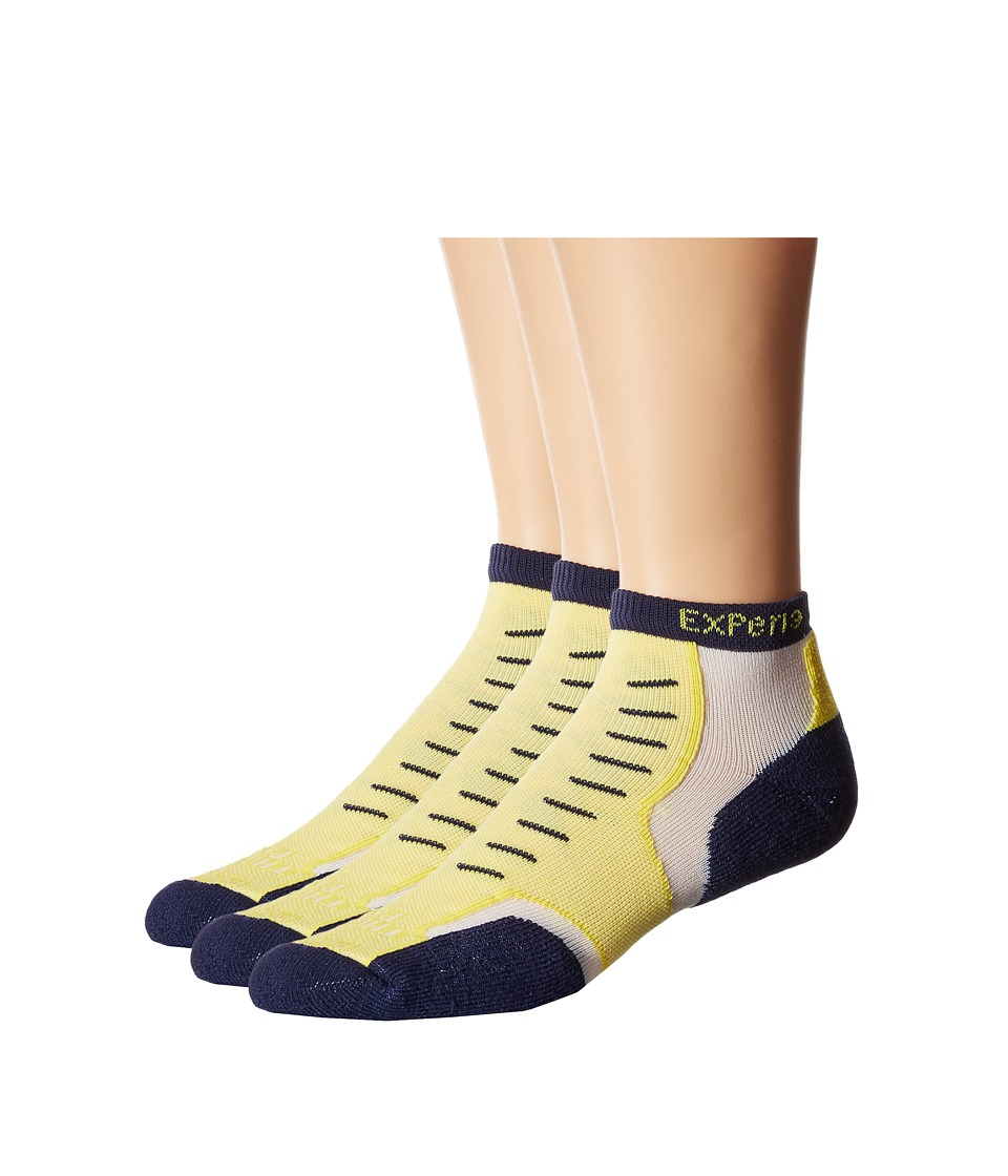 Thorlos - Experia Nantucket Micro Mini 3-Pair Pack (Main Street Yellow) Crew Cut Socks Shoes