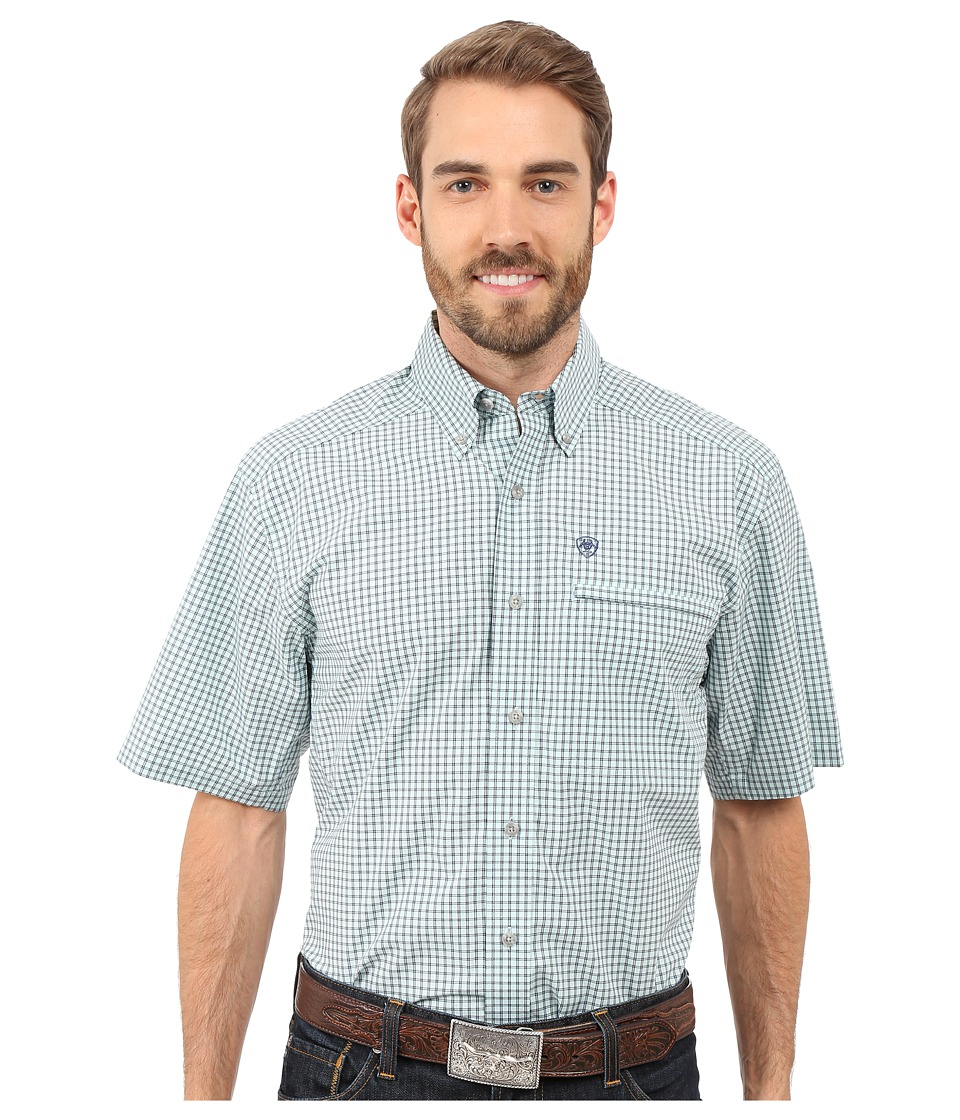 Ariat - Hamlet Hybrid Shirt (Vapor) Men's Short Sleeve Button Up