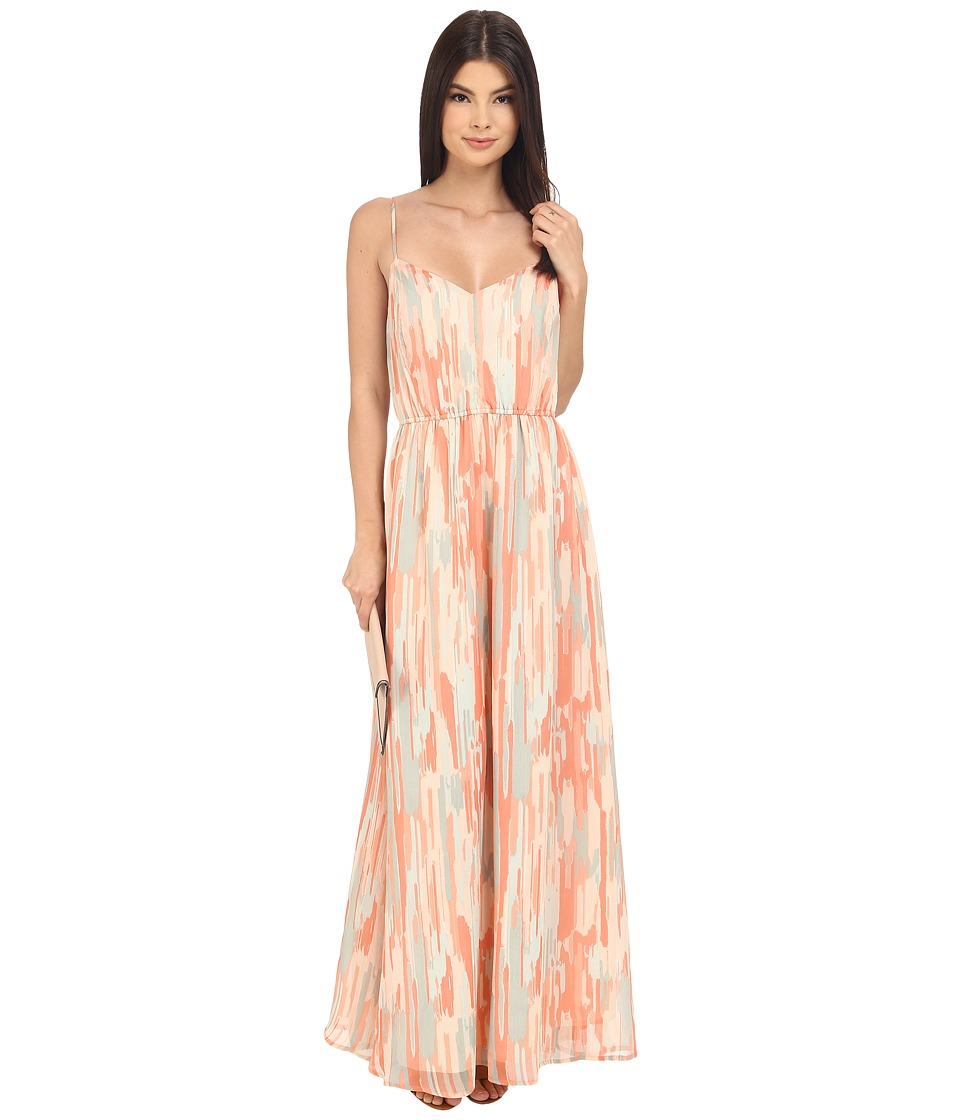 Jack by BB Dakota - Hildy Whimsical Waterfall Printed Crinkle Chiffon Maxi Dress (Multi) Women's Dress
