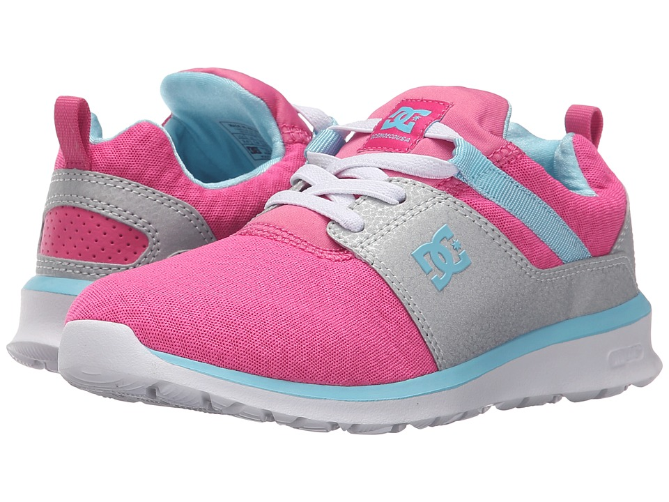 DC Kids - Heathrow (Little Kid) (Pink/Silver) Girls Shoes