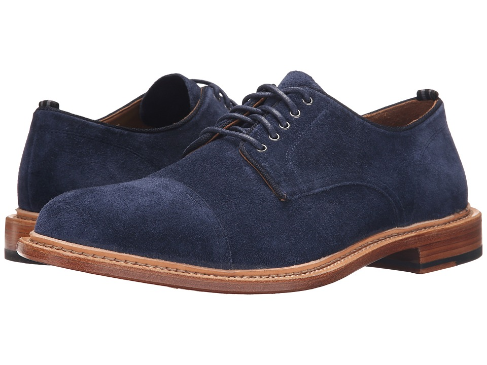Cole Haan - Willet Cap Oxford (Blazer Blue Suede) Men's Lace up casual Shoes