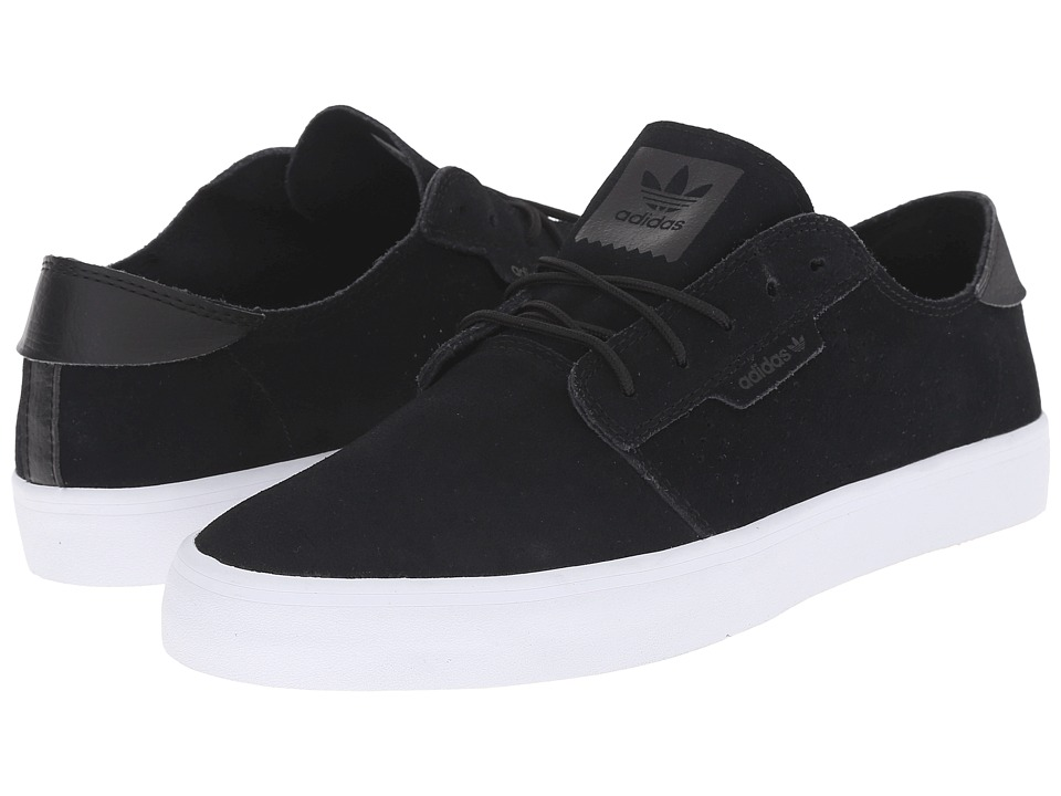 adidas - Seeley Essential (Black/Black/White) Men's Skate Shoes
