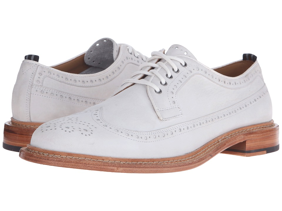 Cole Haan - Willet Longwing (White Nubuck) Men's Lace Up Wing Tip Shoes