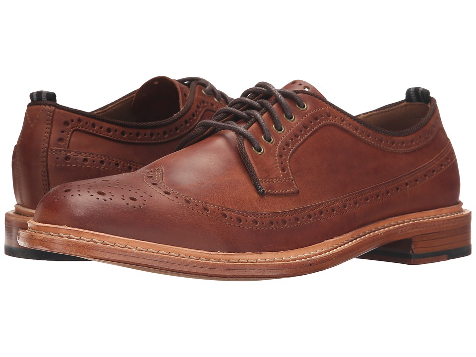 Cole Haan - Willet Longwing (Cognac Tumbled) Men's Lace Up Wing Tip Shoes