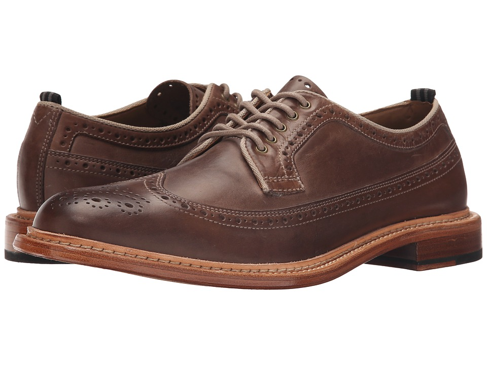 Cole Haan - Willet Longwing (Smoke Tumbled) Men's Lace Up Wing Tip Shoes