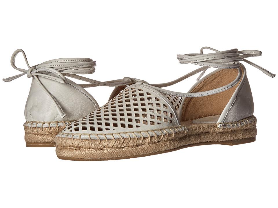 Frye - Leo Perf 2 Piece (White Soft Full Grain) Women's Flat Shoes