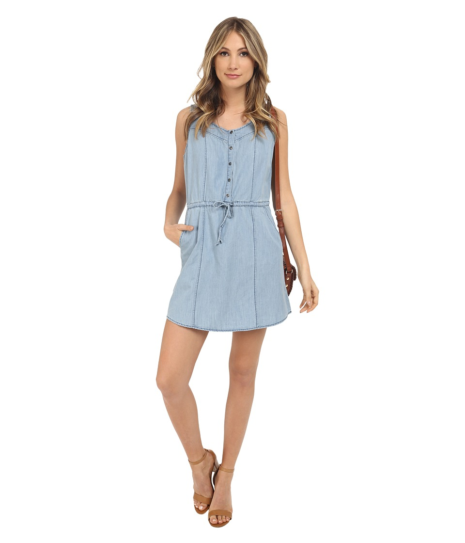 Jack by BB Dakota - Ferell Washed Out Chambray Drawstring Dress (Medium Wash Chambray) Women's Dress