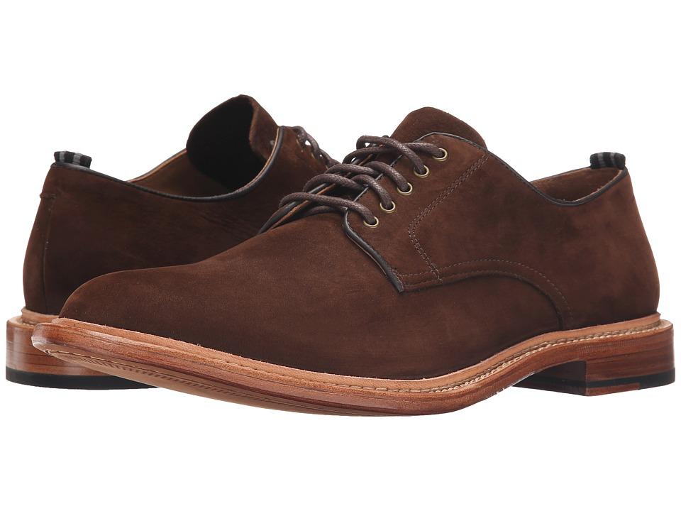 Cole Haan - Willet Plain Oxford (Dark Brown Nubuck) Men's Plain Toe Shoes