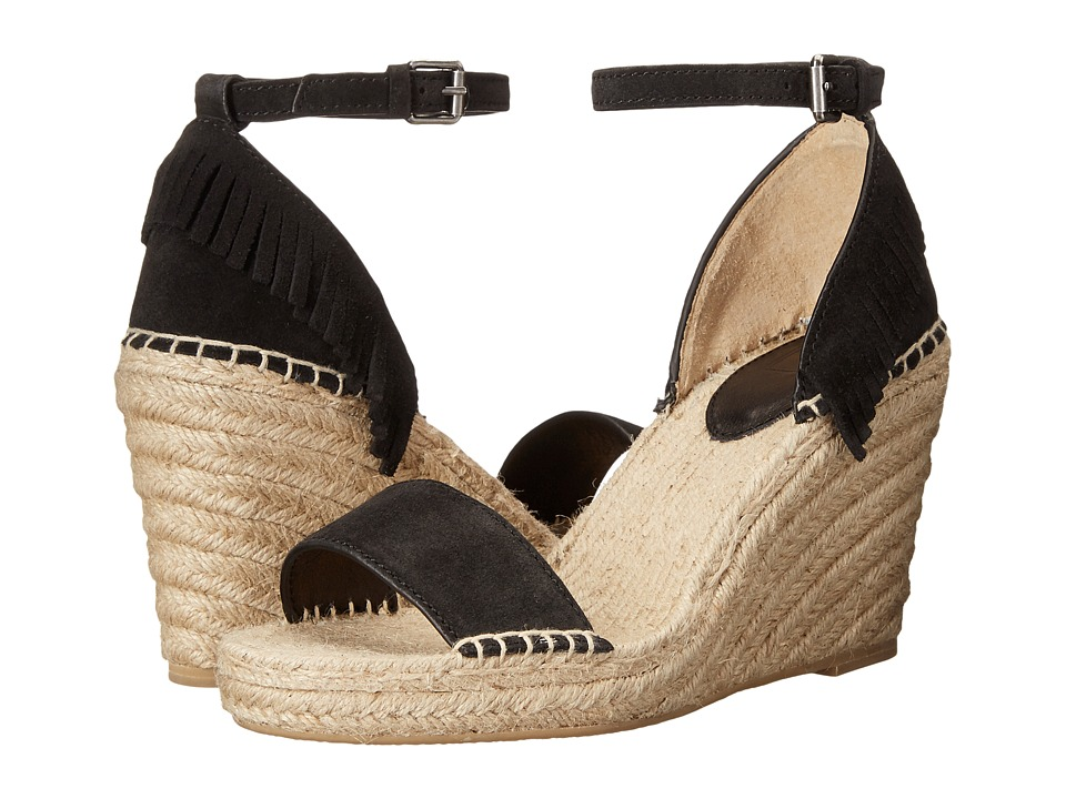 Frye - Lila Feather Wedge (Black Oiled Suede) Women's Wedge Shoes