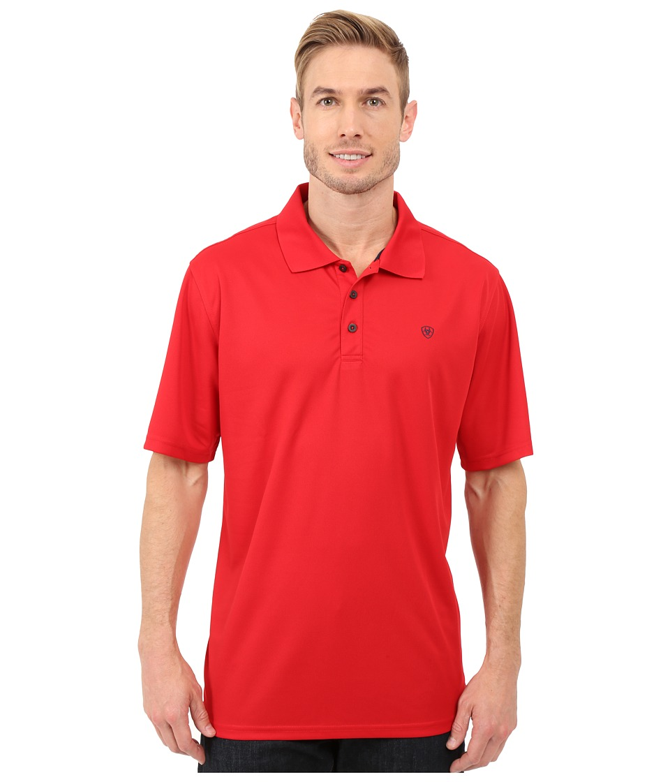 Ariat - Tek Polo (Weg Red) Men's Short Sleeve Pullover