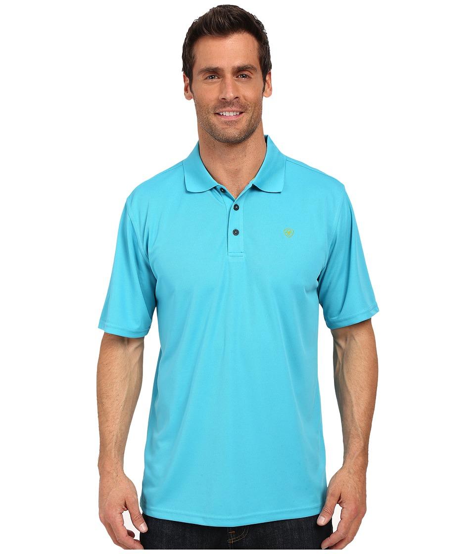 Ariat - Tek Polo (Peacock) Men's Short Sleeve Pullover