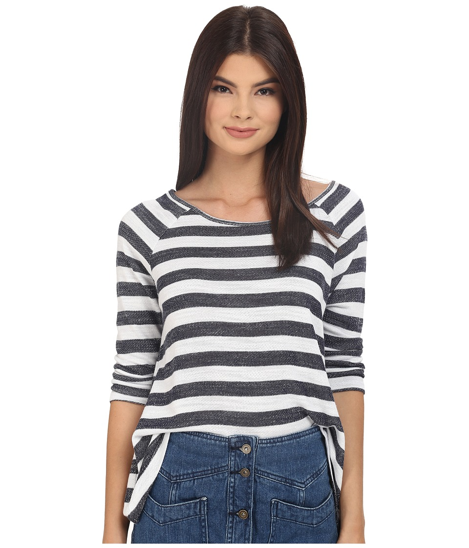 Jack by BB Dakota - Reginald Stripe Light French Terry Loose Top (Navy Blue) Women's Sweater