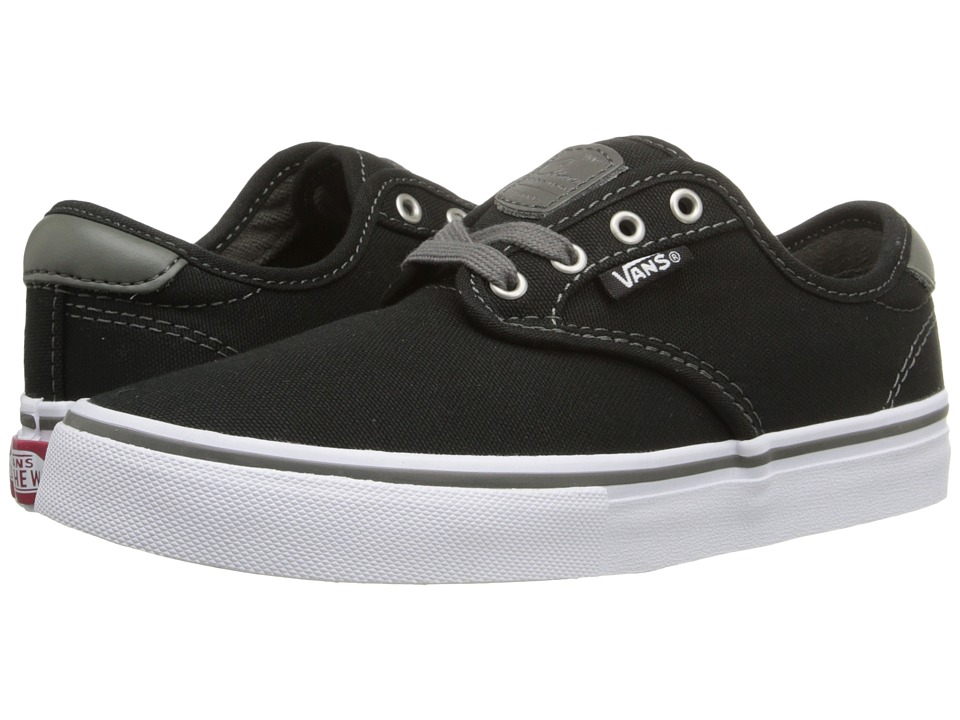 Vans Kids Chima Pro (Little Kid/Big Kid) (Black/Charcoal/White) Boys Shoes