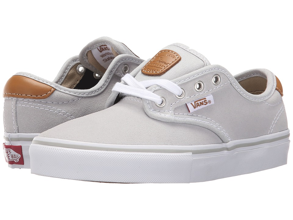 Vans Kids - Chima Pro (Little Kid/Big Kid) (Light Grey/White) Boys Shoes