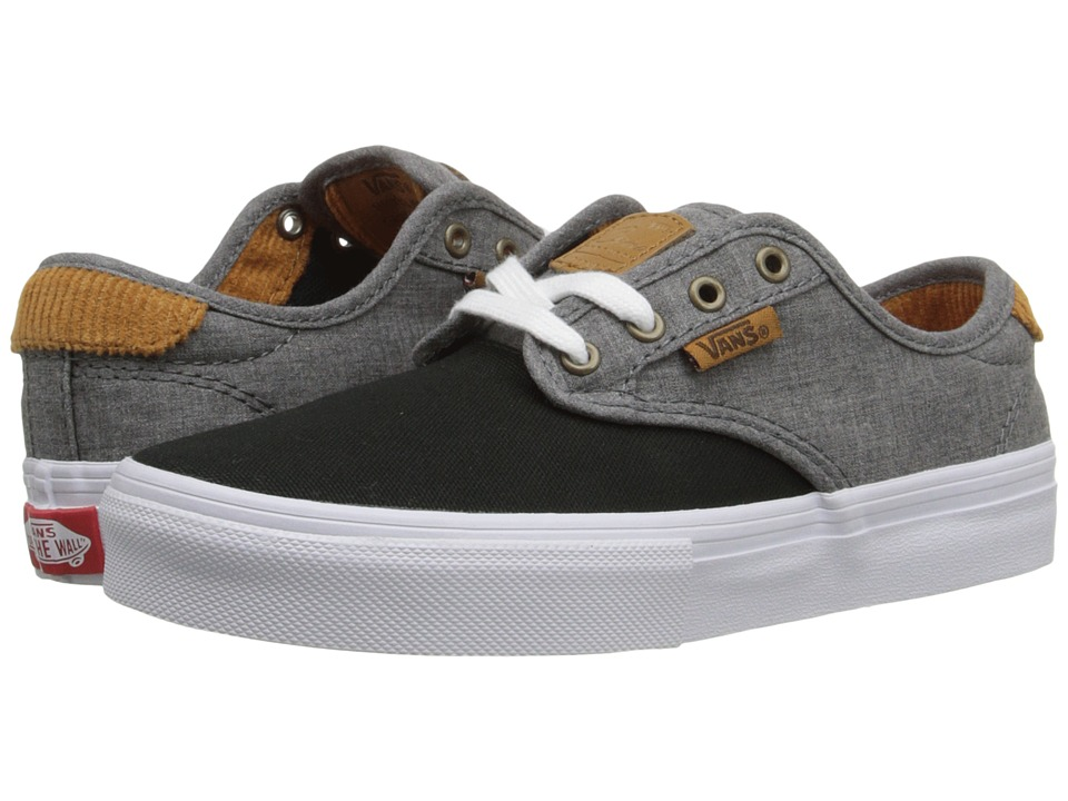 Vans Kids - Chima Pro (Little Kid/Big Kid) ((Cord) Black/Chambray) Boys Shoes