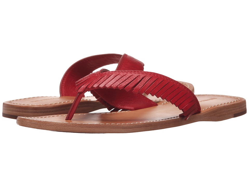 Frye Perry Feathered Thong (Red Soft Vintage Leather) Women