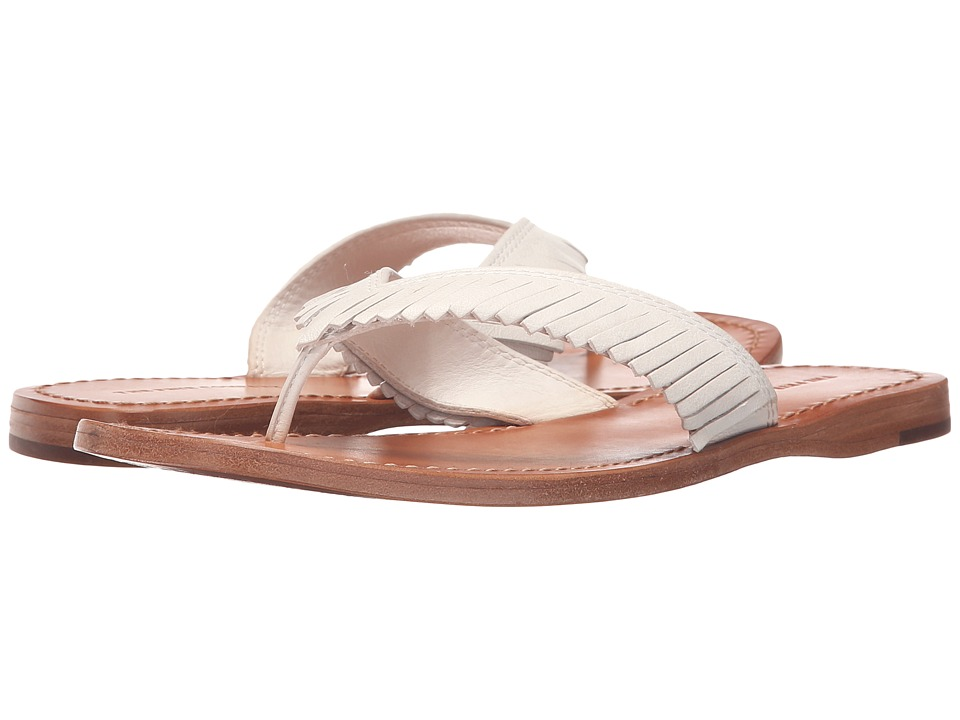 Frye - Perry Feathered Thong (White Soft Vintage Leather) Women's Sandals