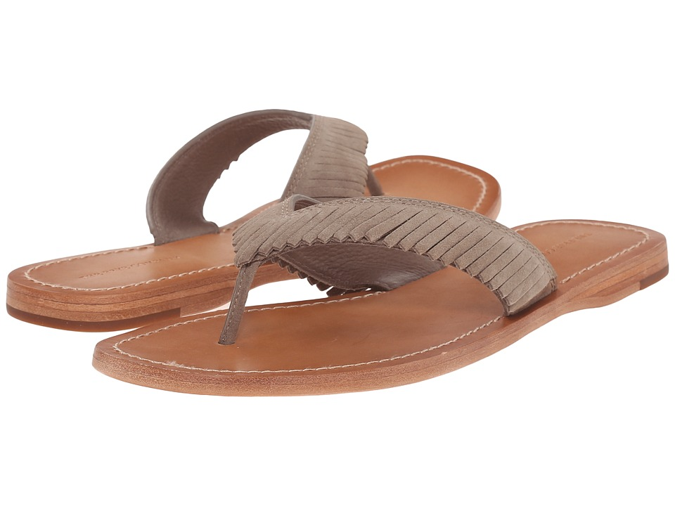 Frye Perry Feathered Thong (Grey Oiled Suede) Women